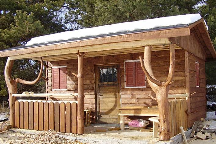 Drevené stavby v záhrade