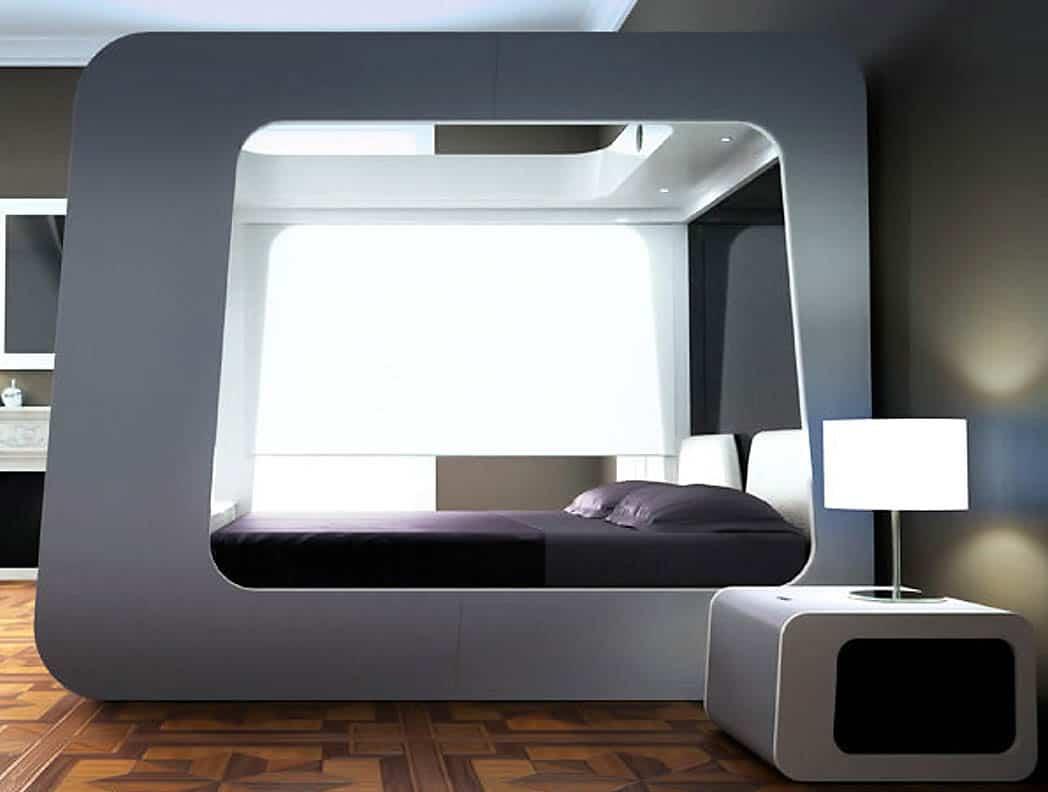 Futuristická spálňa