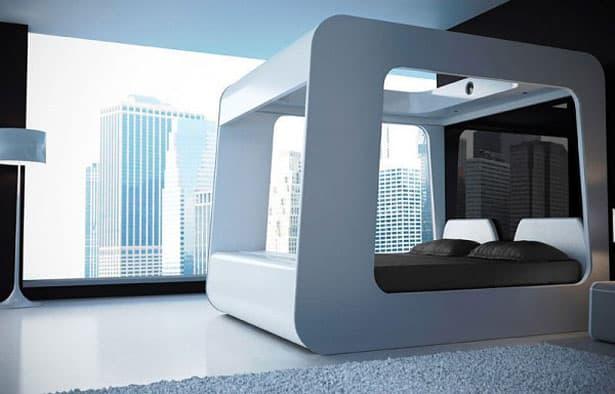 Futuristická posteľ - futuristický štýl