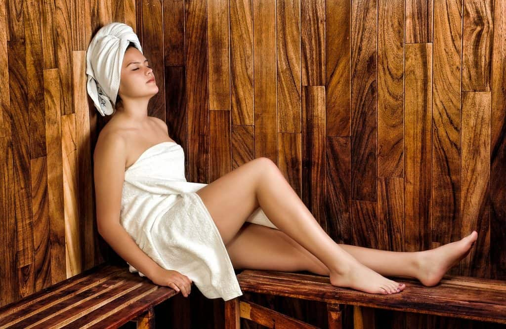 Žena v saune