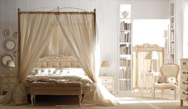 Spálňa vo vintage štýle