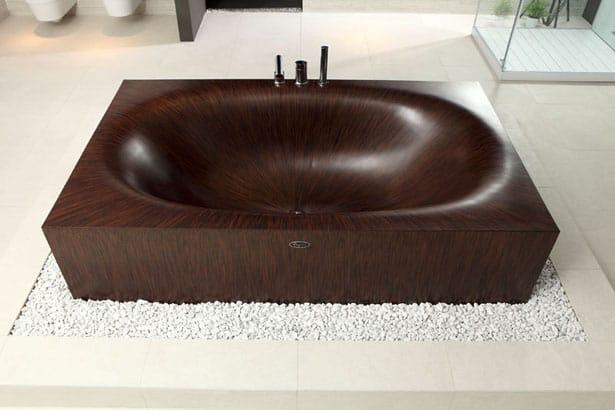 Luxusné drevené vane