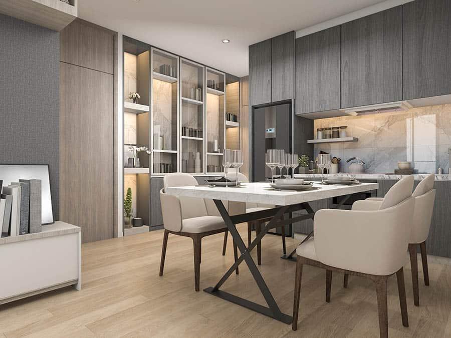 Moderná jedáleň - stolovanie
