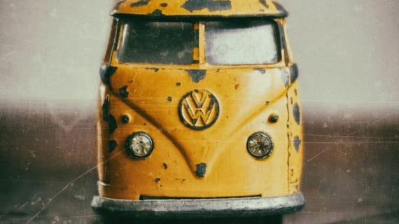 Retro plechové auto Volkswagen