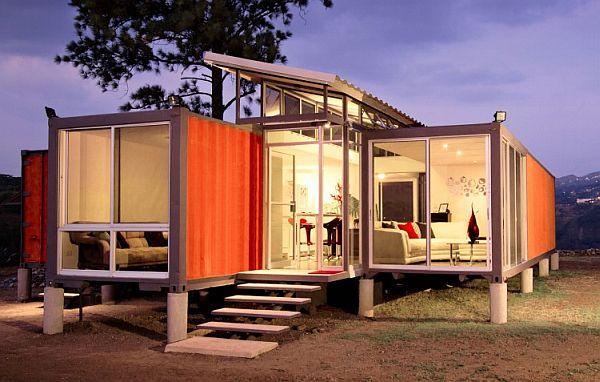 Dom vyrobený z prepravných kontajnerov