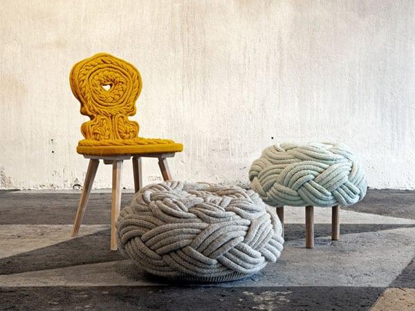 Pletené stoličky