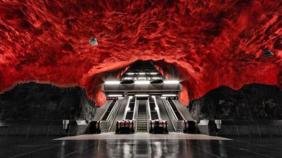 Nádherný dizajn a umenie v Štokholmskom metre