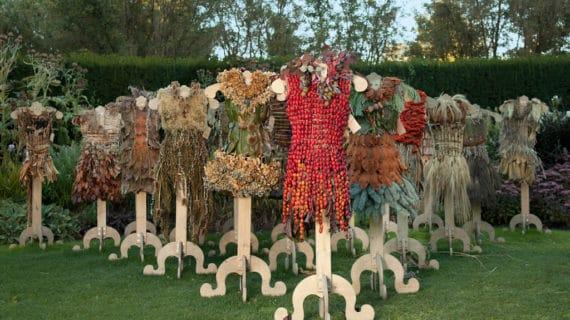 Krásne šaty z rastlín a kvetín