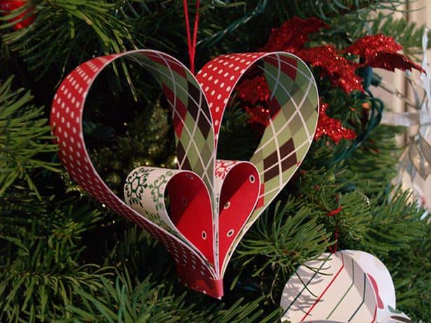 papierové vianočné ozdoby