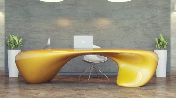 Minimalistický kancelársky stôl