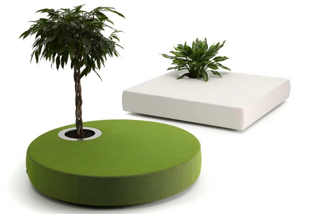 """""""Zelené ostrovy"""" Zaujímavé sedačky"""