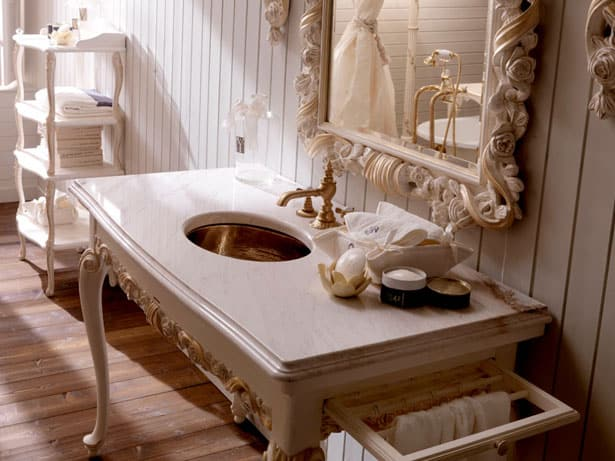 Kúpeľňa vo vintage štýle