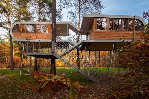 Dom na strome v Belgicku