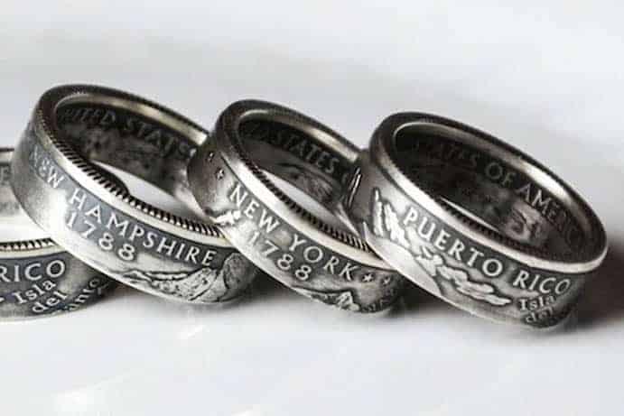 """Prstene z mincí """"The Ring Tree"""""""