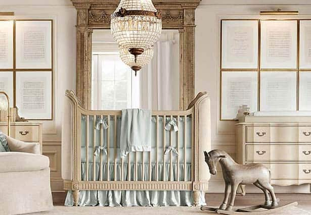 Detská postieľka - detská izba vo vintage štýle