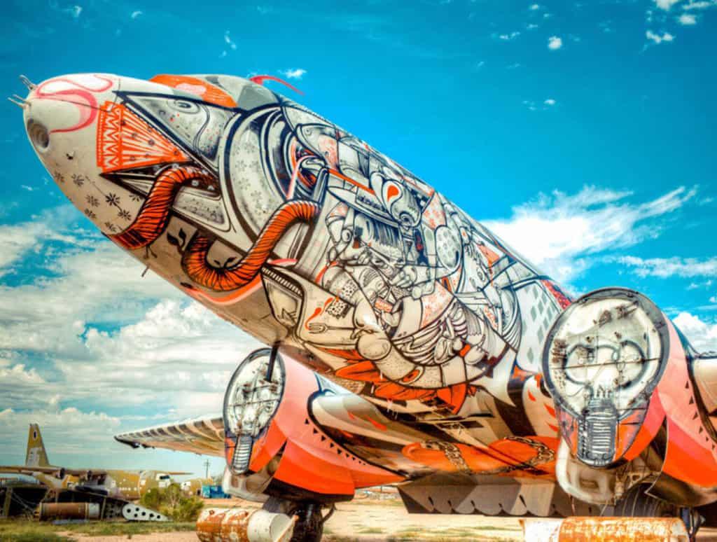 Umenie na opustených lietadlách