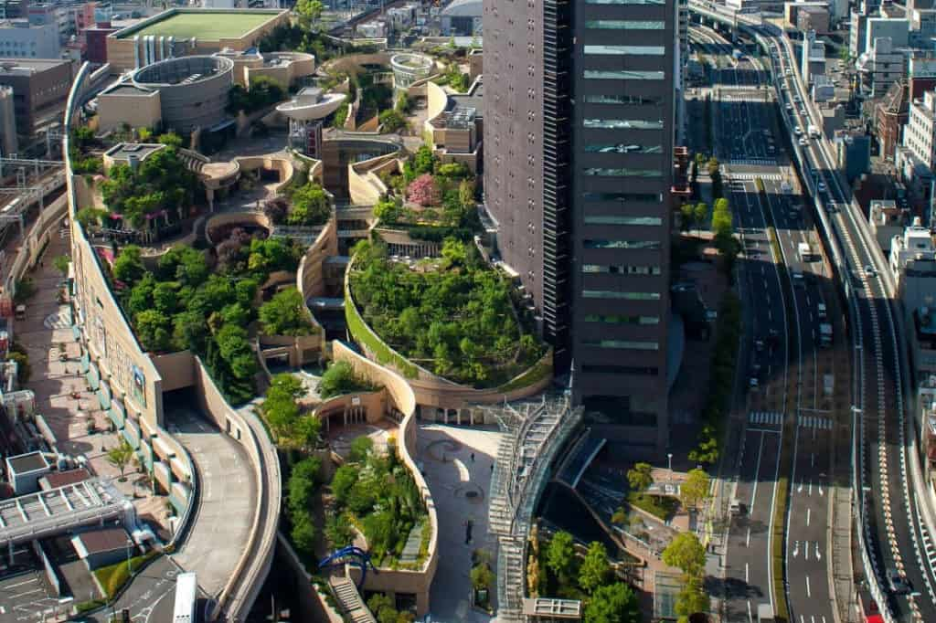 Strešné záhrady v Osake