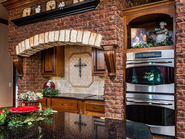 Kuchyňa z tehál
