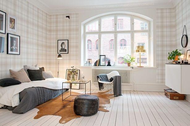 Interiér zariadený v škandinávskom štýle