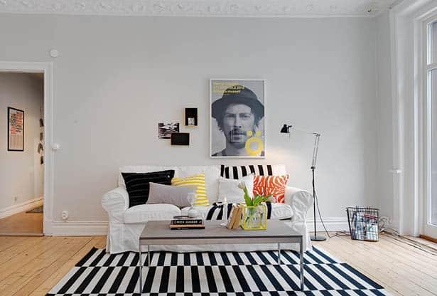 Farebné textílie v škandinávskom štýle