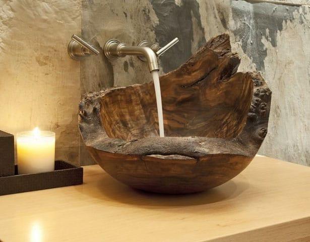 wooden-sink