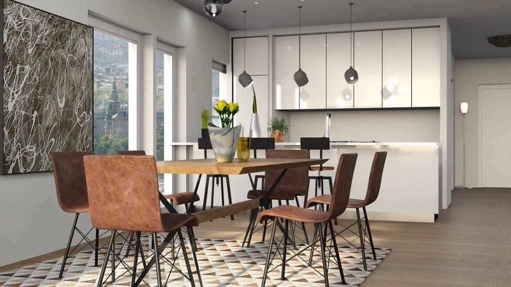 Laminátové podlahy v kuchyni