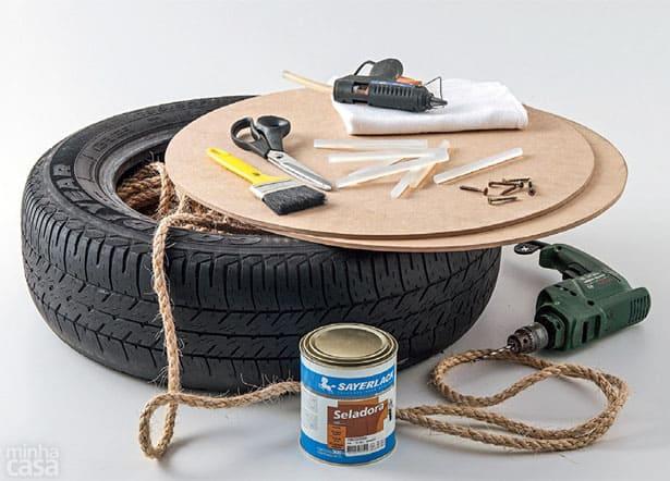 Originálna taburetka z pneumatiky