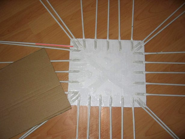 Papierové pletenie postup