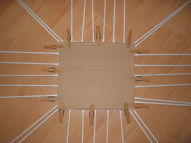 Papierové pletenie postup 2