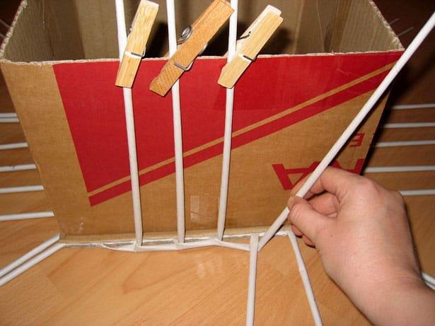Papierové pletenie postup 3