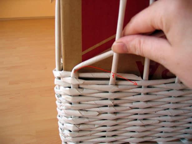 Papierové pletenie postup 6