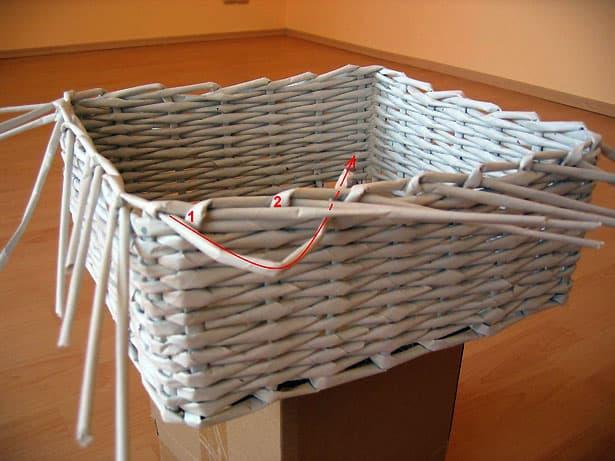 Papierové pletenie postup 7