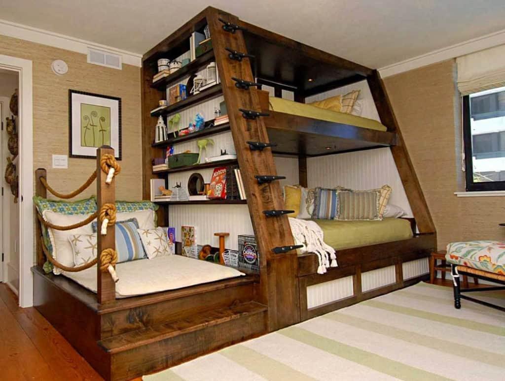 Poschodová posteľ je štýlové