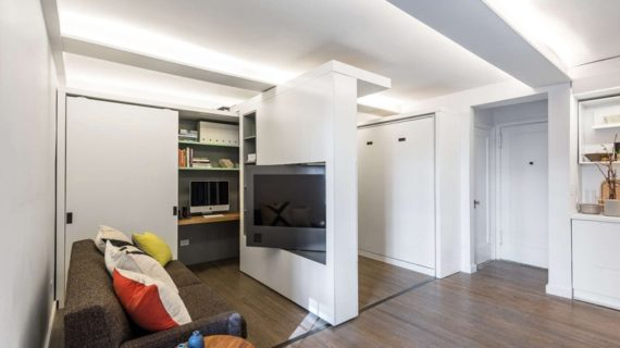 Apartmán v New Yorku s pohybujúcou sa stenou