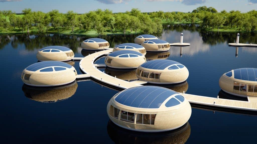Luxusný plávajúci dom pre štvorčlennú rodinu