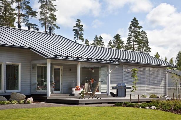 Škanidnávsky dizajn - typická fínska drevostavba