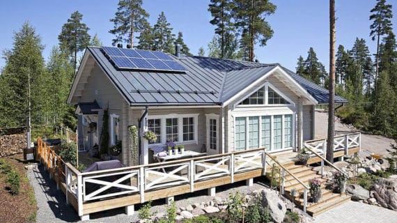 Škandinávsky dizajn vládne strechám a fasádam