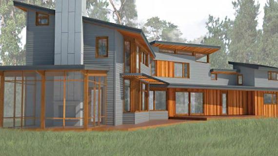 Makrowin dodal okná na unikátny nízkoenergetický dom v Michigene