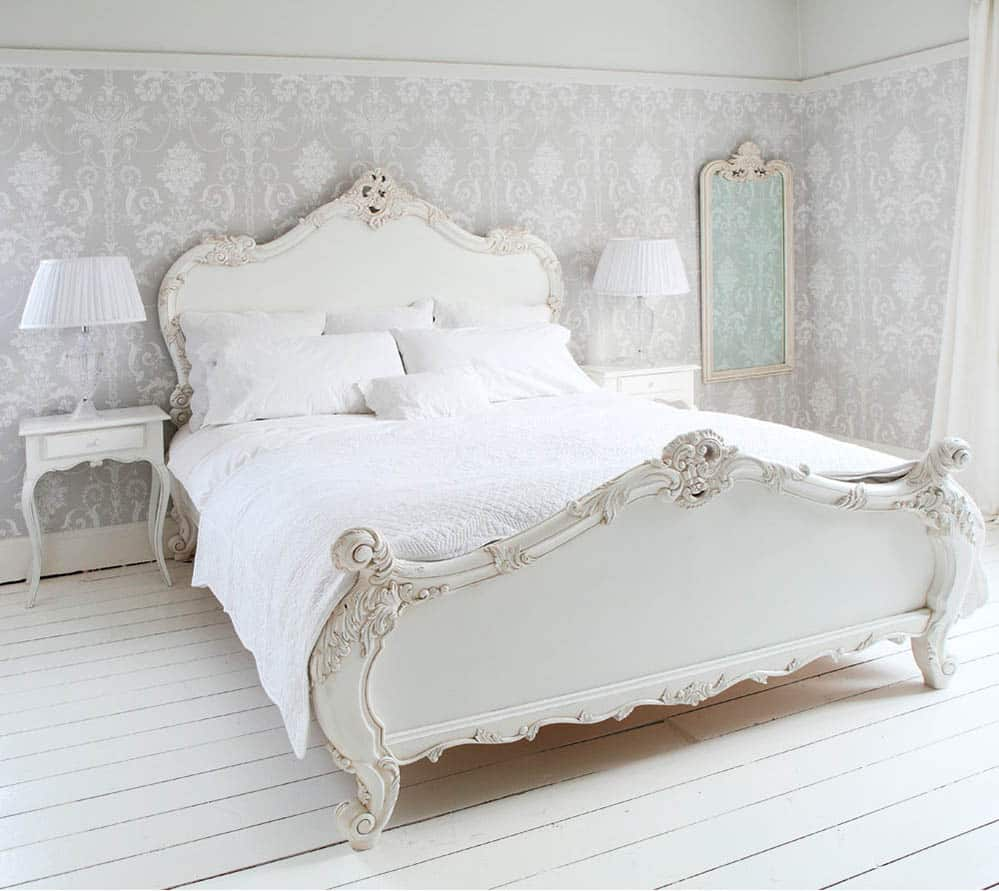 white-french-bed