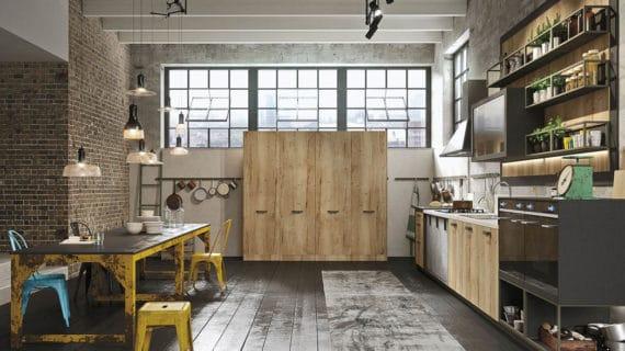 Industriálna kuchyňa v podkroví