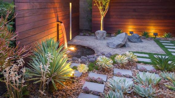 Moderná minimalistická záhrada