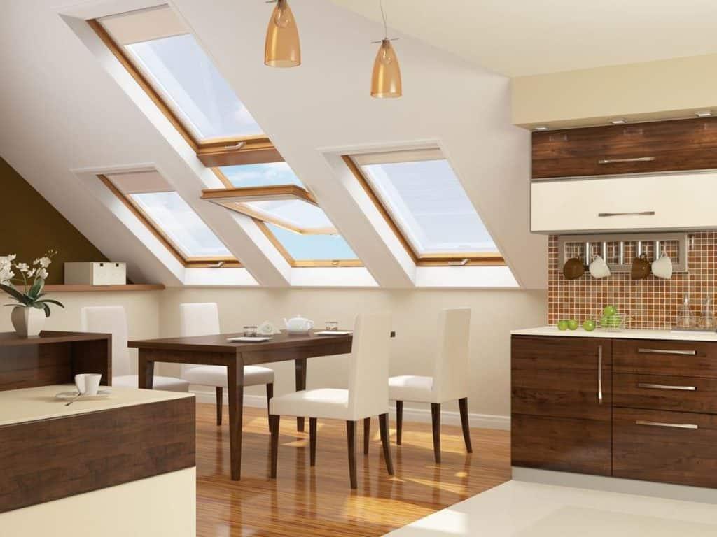 Strešné okno v kuchyni