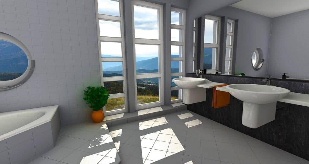 Vizualizácia kúpeľne - rekonštrukcia