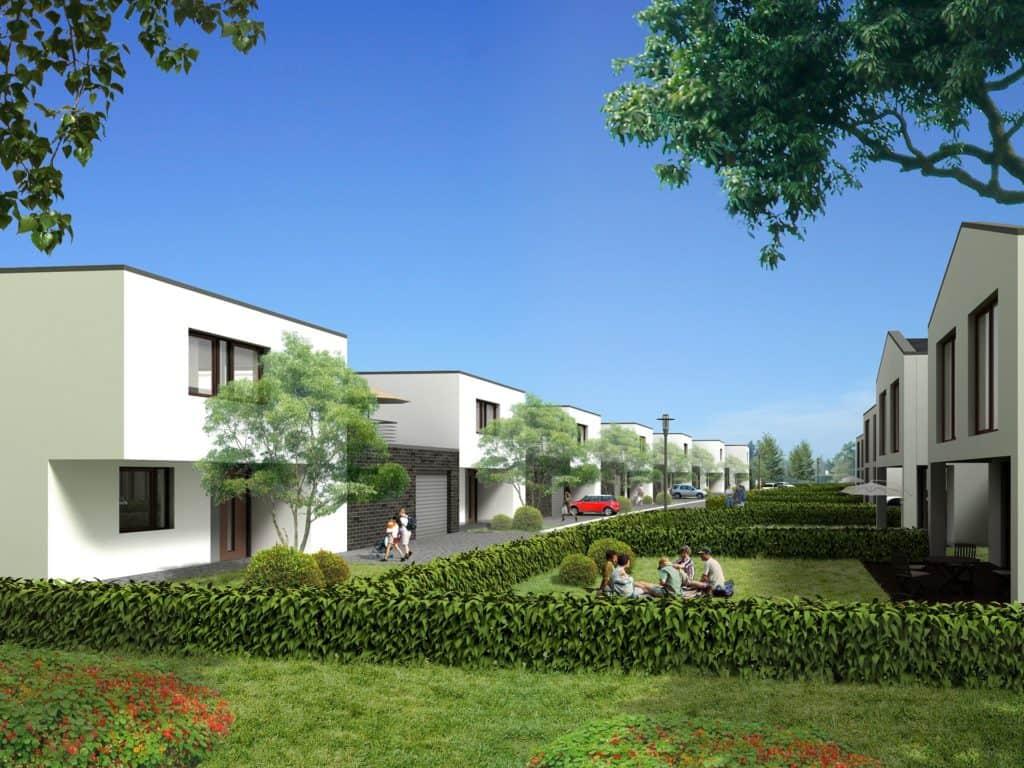 Stavebný pozemok a projekt rodinných domov