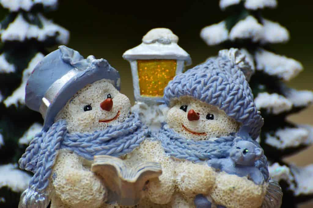 Vianočné dekorácie - snehuliaci