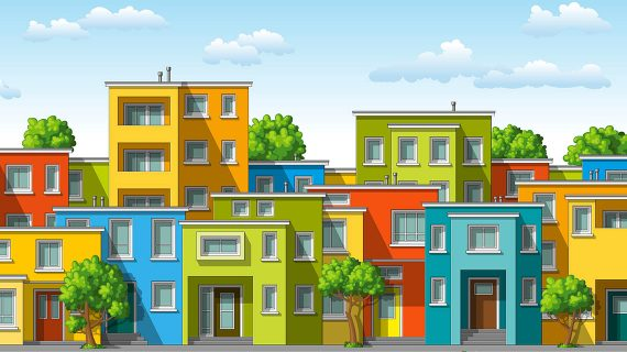 Farebné fasády rodinných domov