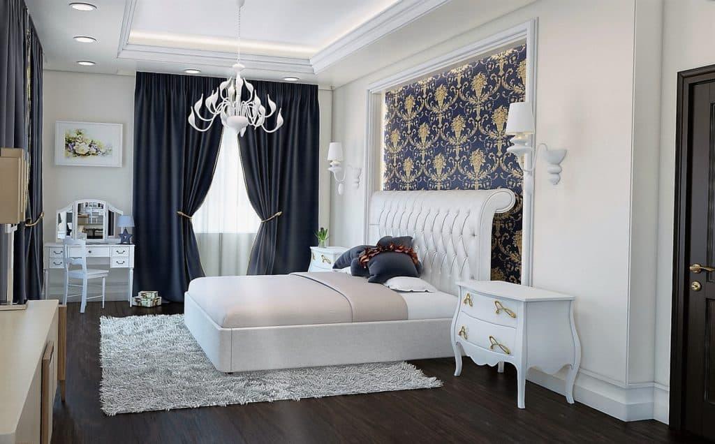 V moderne zariadenej spálni