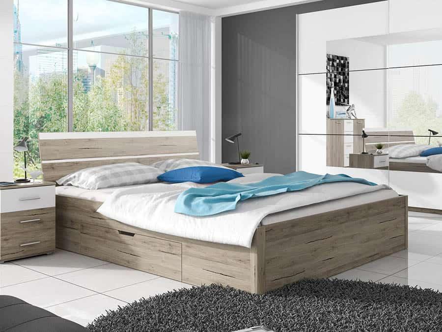 Manželská posteľ 180 cm Benson