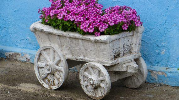 Vlastnoručne vyrobené záhradné dekorácie