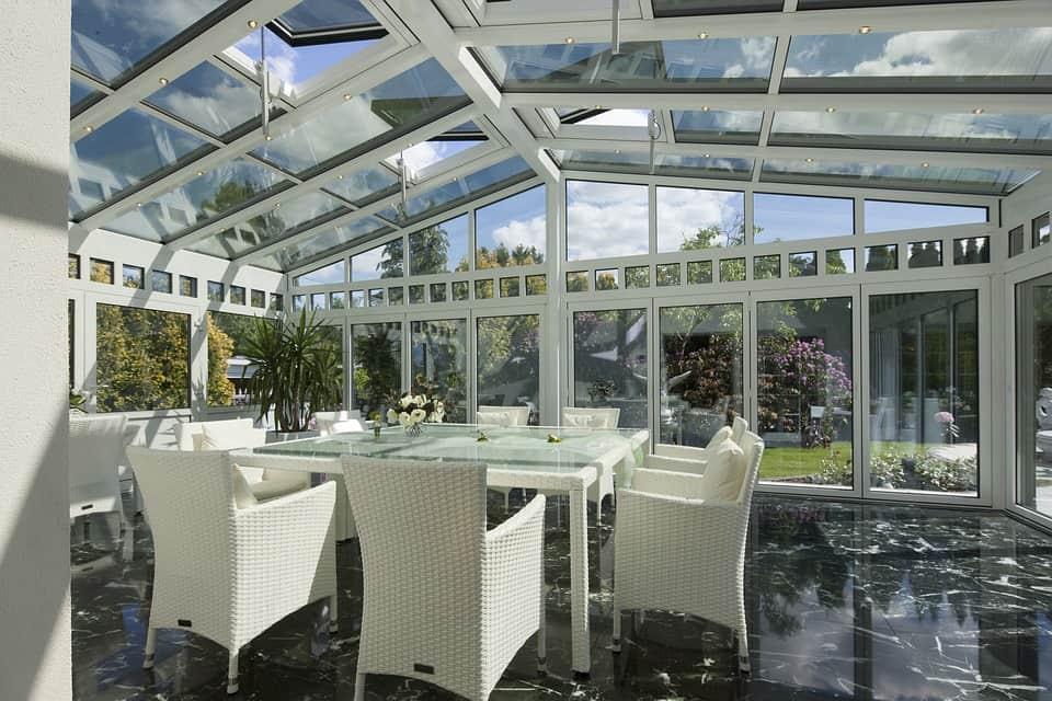 Hliníkové okná - zimná záhrada